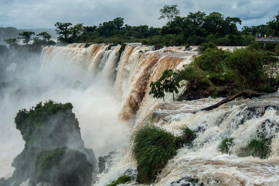 un particolare delle cascate di Iguazù in Argentina