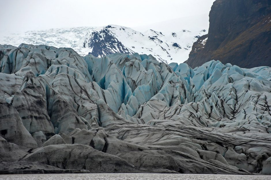 Particolare del ghiacciaio Vatnajökull a Skaftafell, Islanda.