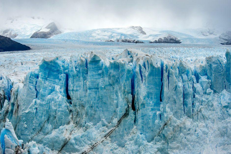 Particolare del ghiacciaio Perito Moreno a El Calafate in Argentina